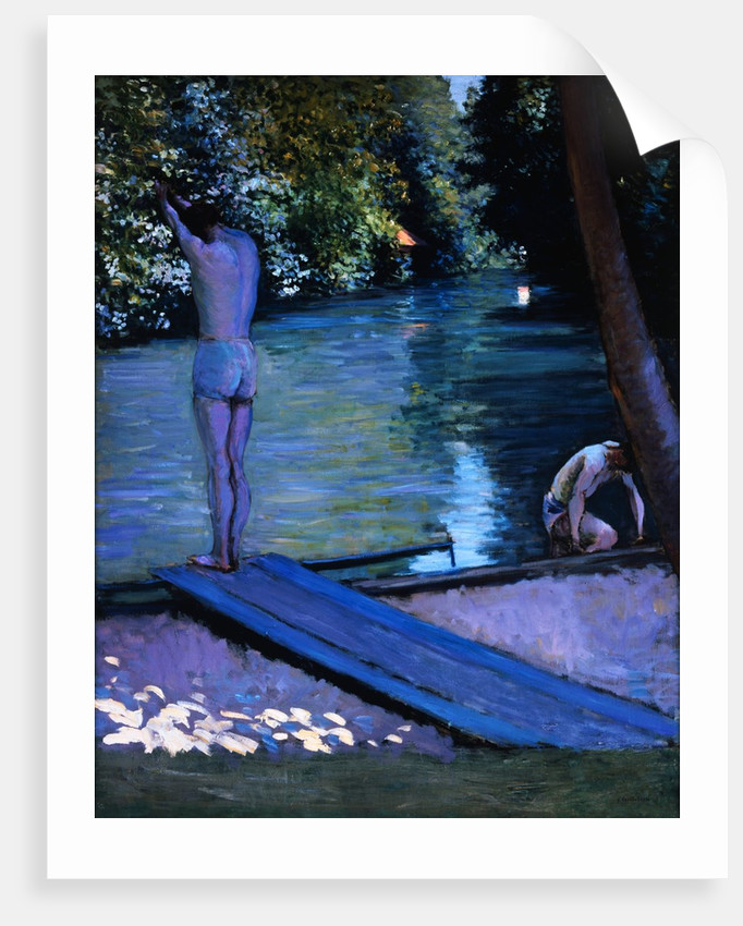 Bathers Preparing to Dive by Gustave Caillebotte