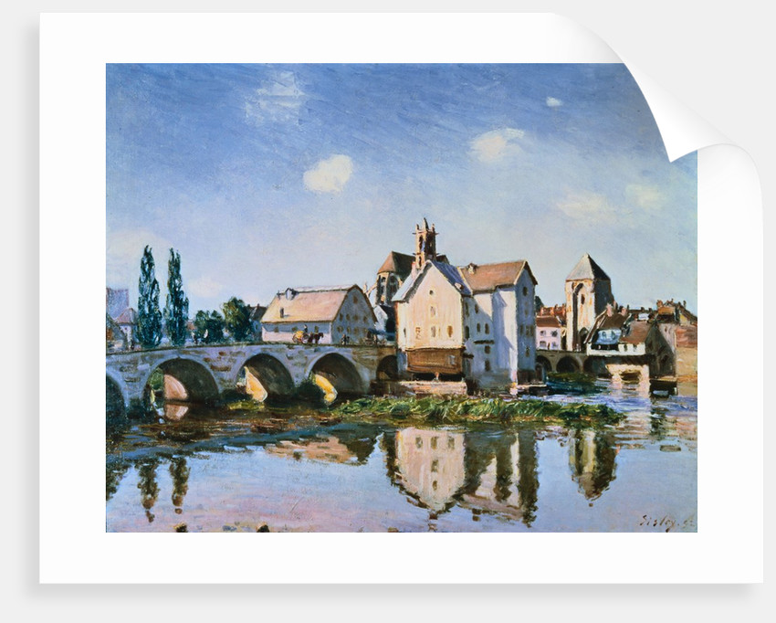 The Moret Bridge in the Sun by Alfred Sisley