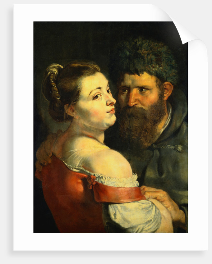 A Fisherman and a Peasant Woman Embracing by Sir Peter Paul Rubens