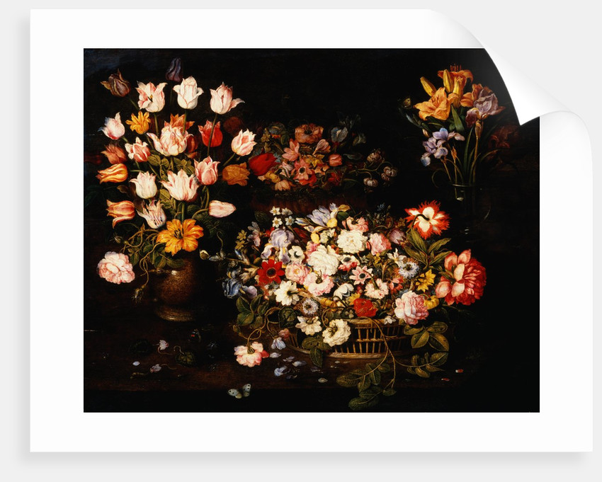 Four Vases of Varying Flowers by Osias Beert the Elder