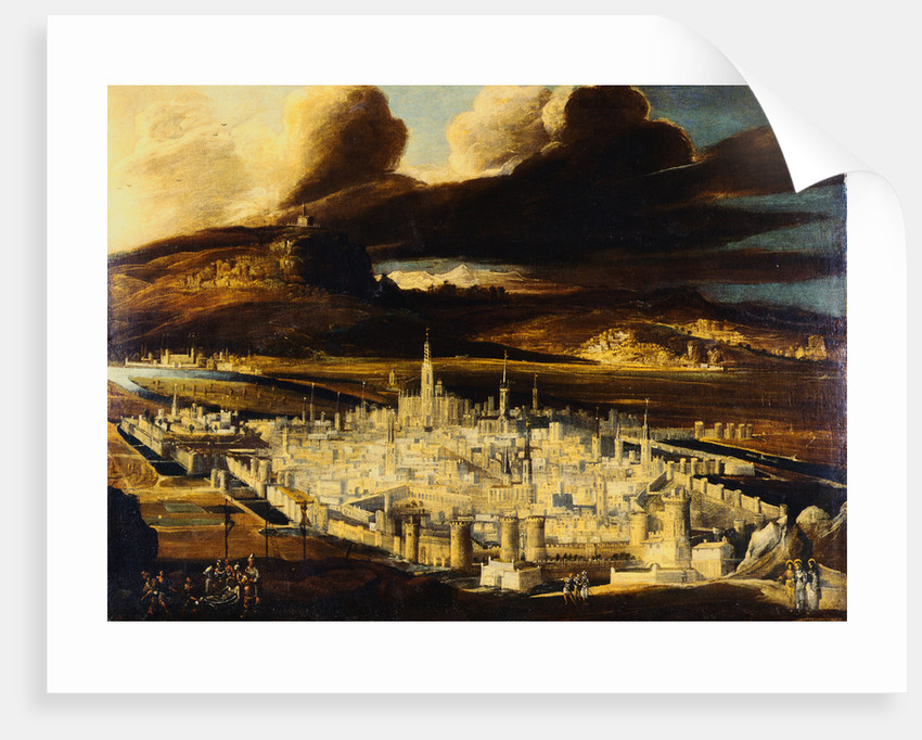 An Imaginary View of Jerusalem with Christ Carried to the Tomb by Didier Barra