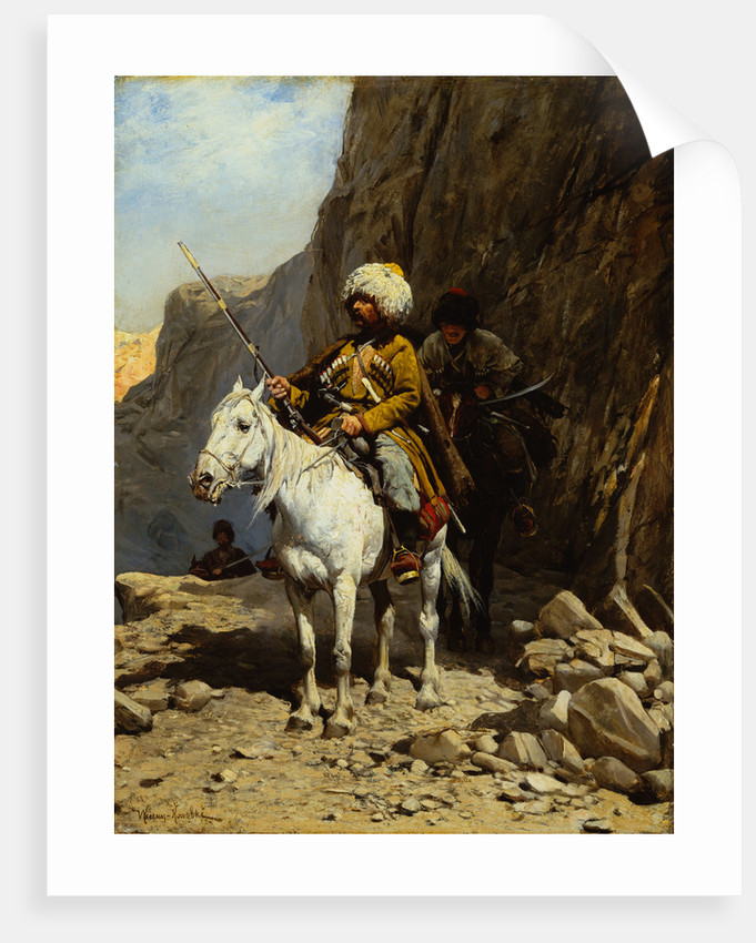 The Cossack by Alfred von Kowalski-Wierusz