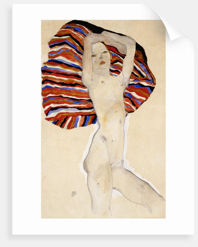 Act Against Colored Material by Egon Schiele