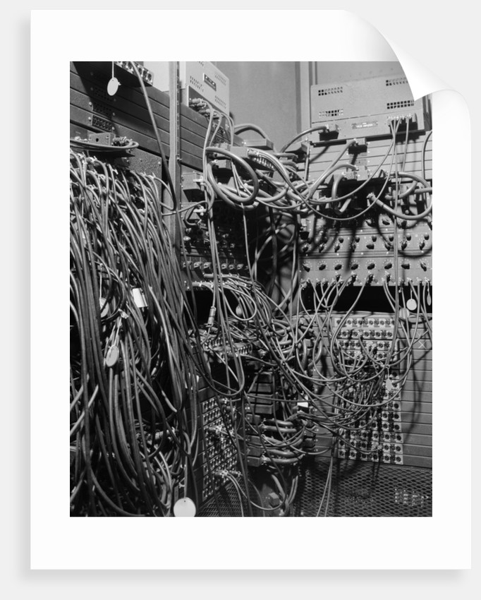 Cables on Early Computer by Corbis
