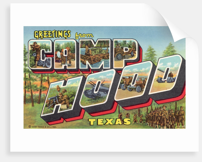 Greeting Card from Camp Hood, Texas by Corbis