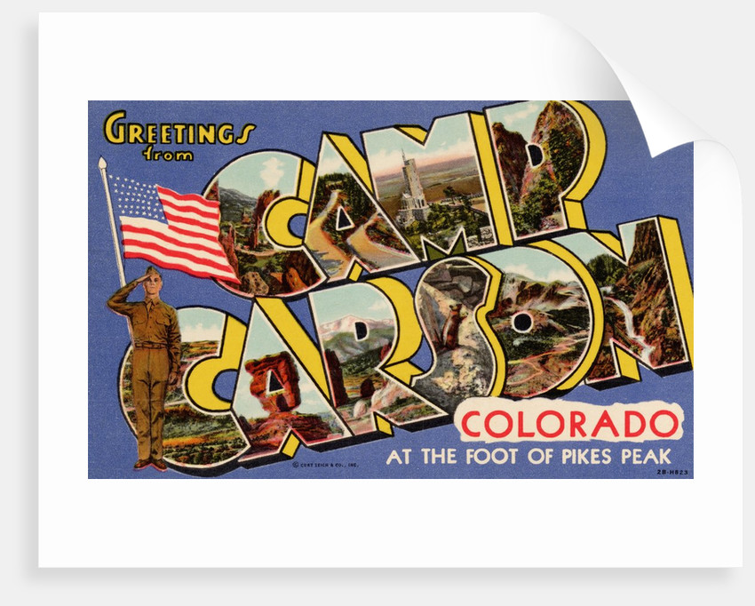 Greeting Card from Camp Carson by Corbis