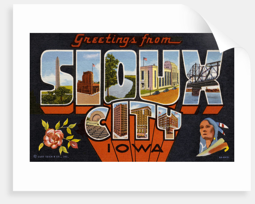 Greeting Card from Sioux City, Iowa by Corbis
