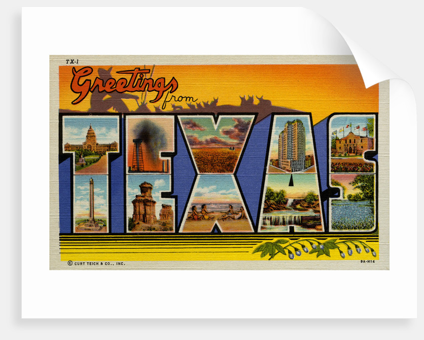 Greetings from Texas Postcard by Corbis