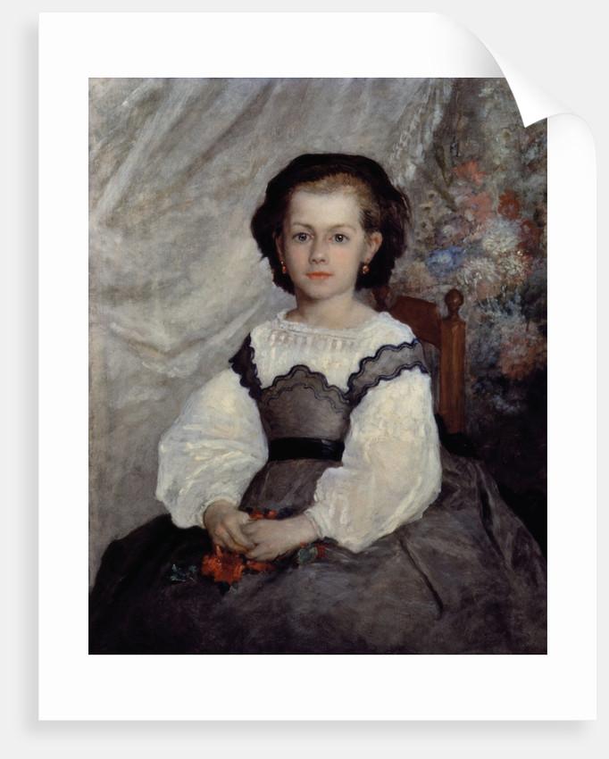 Portrait of Mademoiselle Romaine Lacaux by Pierre Auguste Renoir