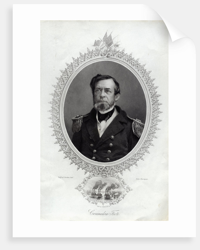 Commodore Foote Engraving by George Stodart