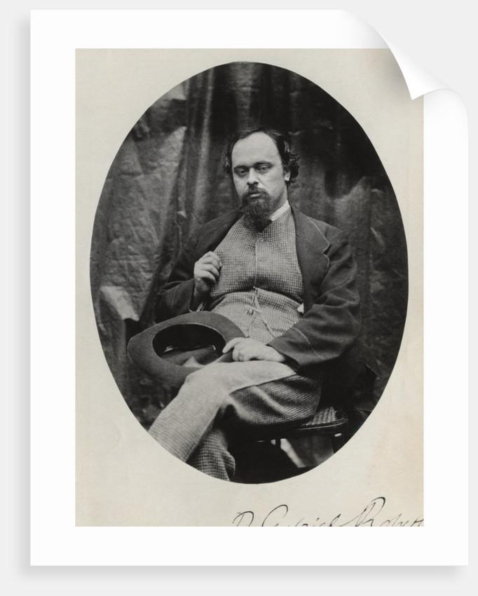 Portrait of Raphaelite Activist Dante Gabriel Rossetti by Corbis