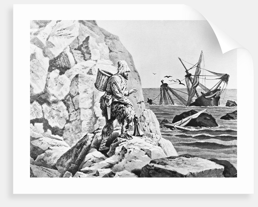 Robinson Crusoe Viewing His Wreck Print by Corbis