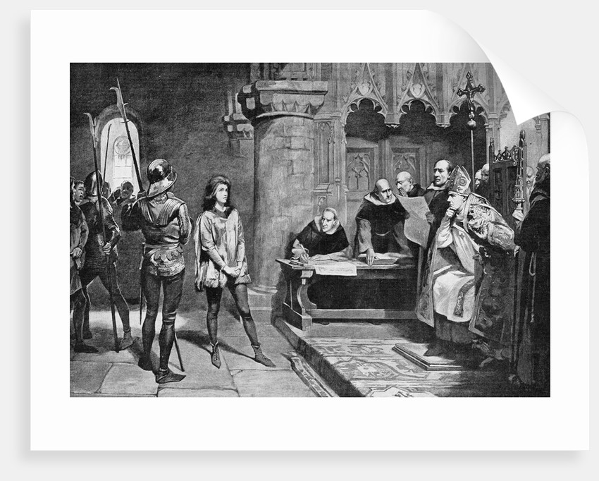 Illustration Depicting Joan of Arc on Trial by Corbis