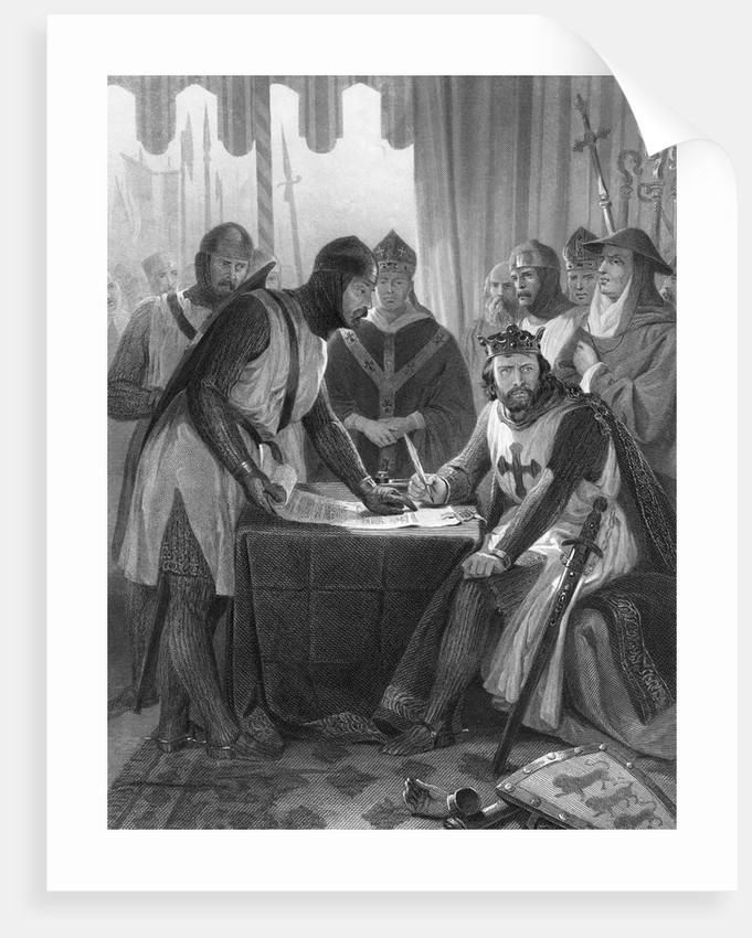 King John and Witnesses at Magna Carta Signing by Corbis