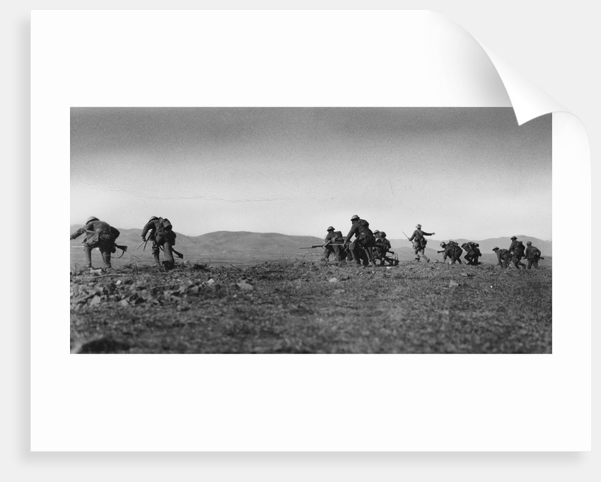 British Soldiers Advance During World War I by Corbis