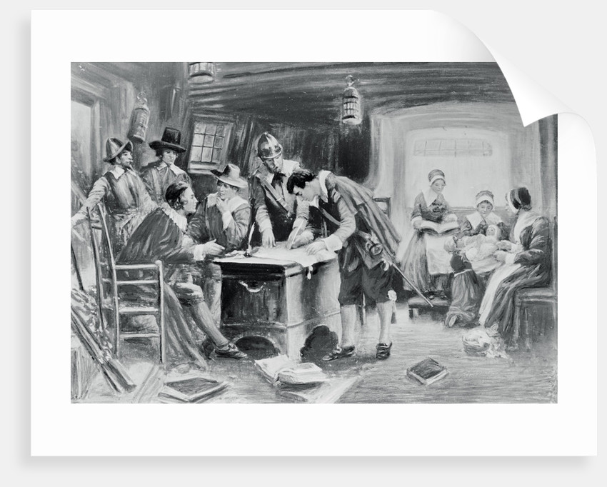 signing the mayflower compact posters prints by corbis