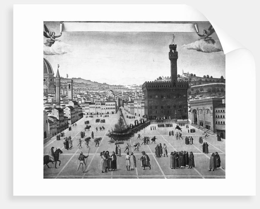 Depiction of Burning of Girolamo Savonarola by Corbis