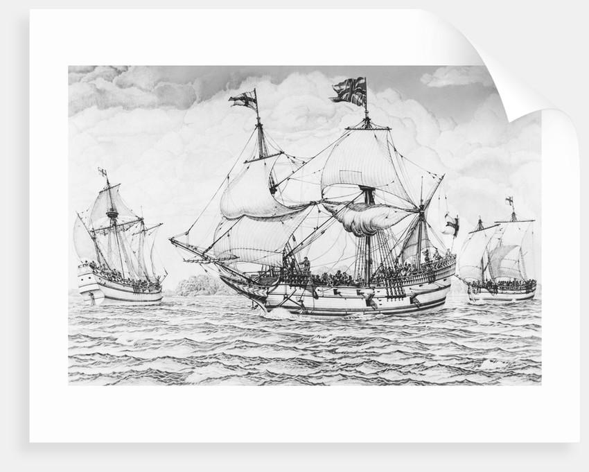 British Merchant Ships Sailing by Corbis