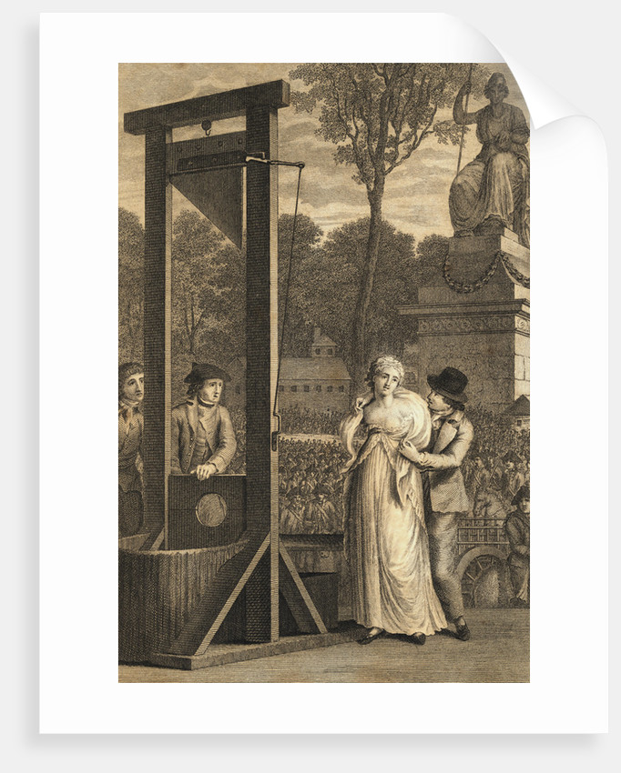 Charlotte Corday Being Led to Guillotine by Corbis