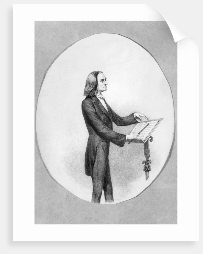 Franz Liszt at Conducting Stand by Corbis