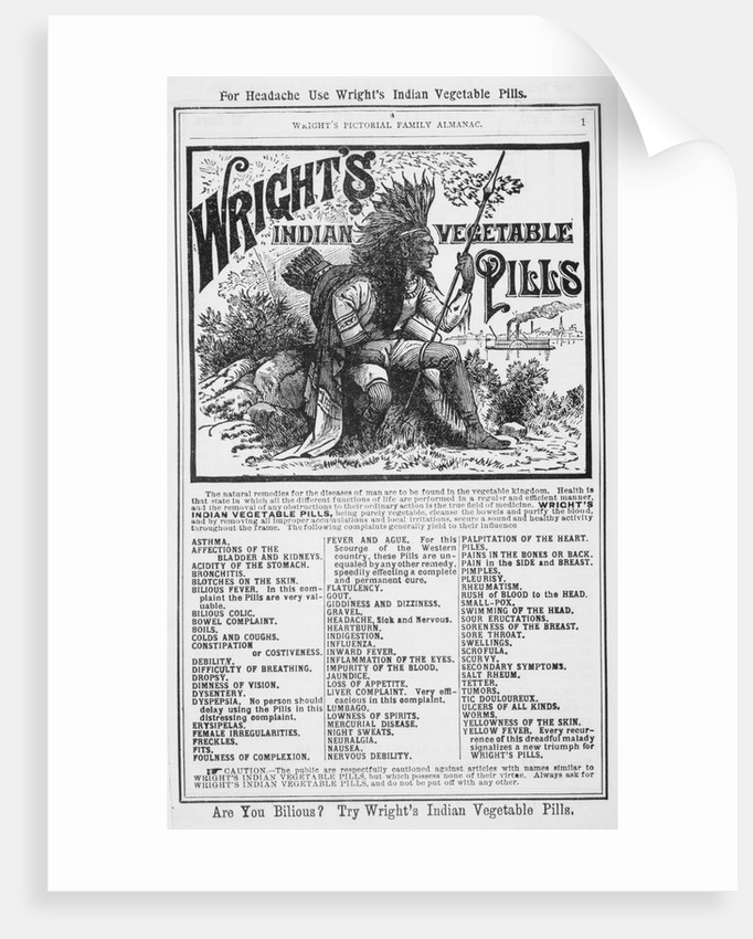 Vegetable Pill Advertisement for Headaches by Corbis