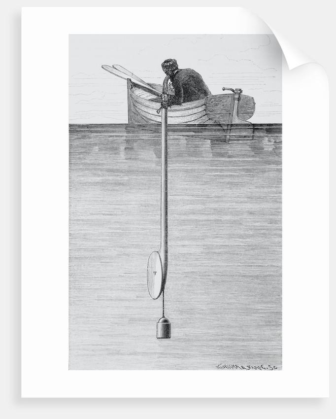 Sailor Measuring Depth of Ocean by Corbis