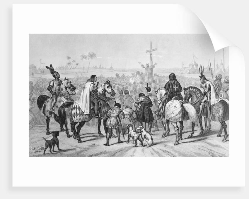 Haranguing Crusaders Before Wall of Jerusalem by Corbis