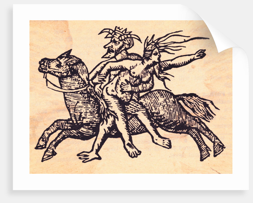 Devil Riding with Witch by Corbis