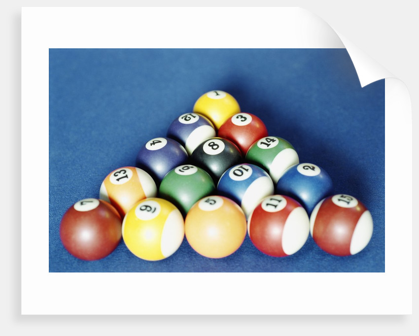 Balls on a pool table by Corbis