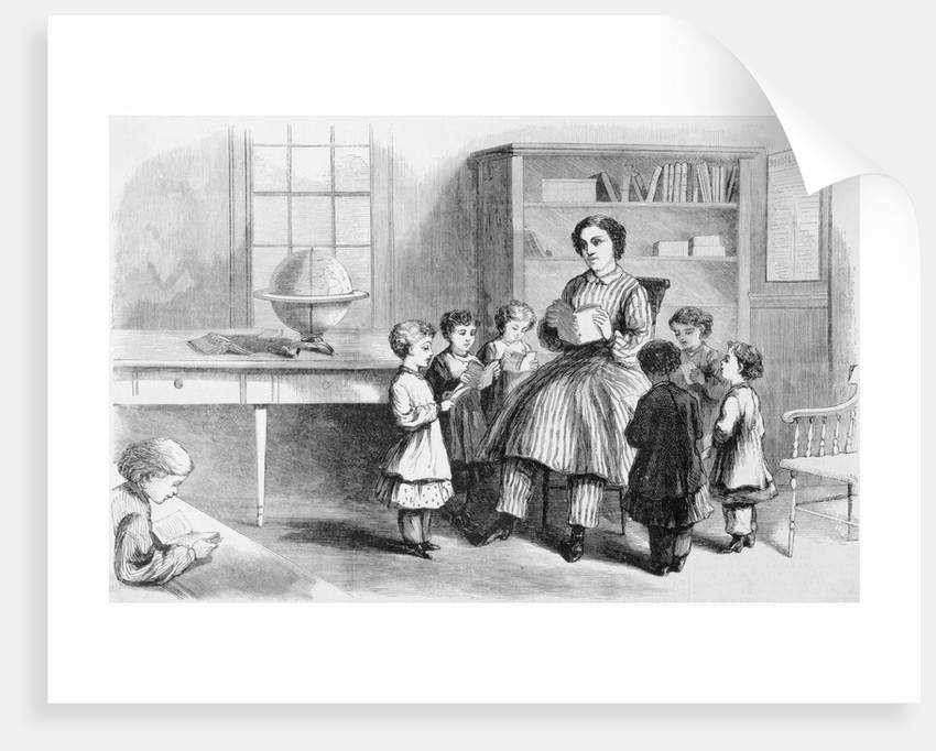 Progressive Teacher Reading to Children by Corbis