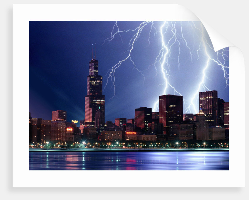 Thunderstorm Over Chicago by Corbis