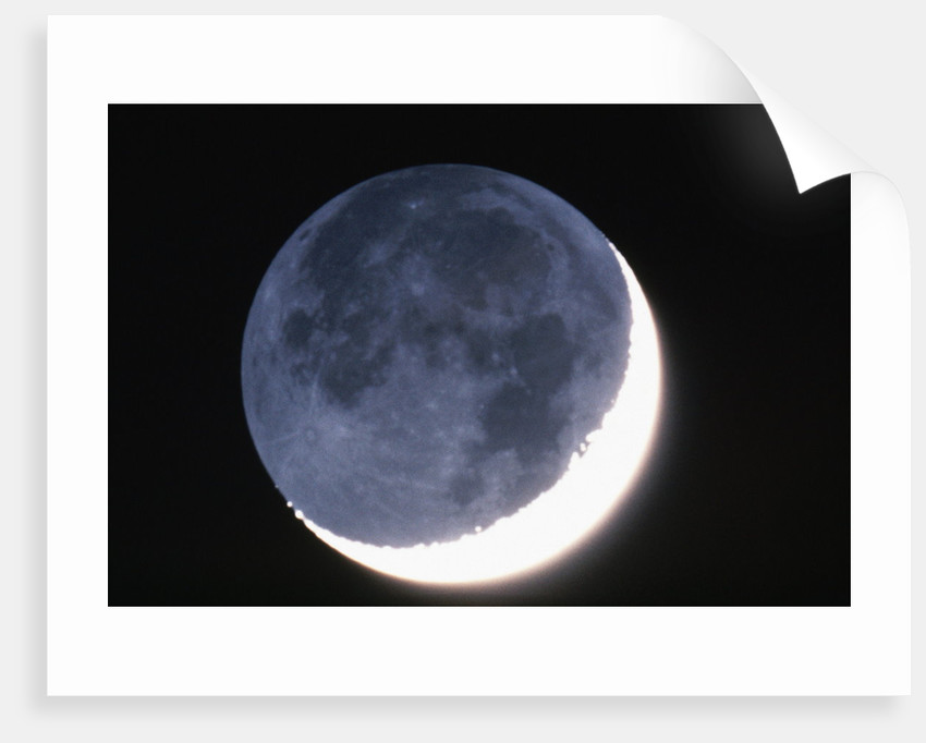 Crescent Moon with Earthshine by Corbis