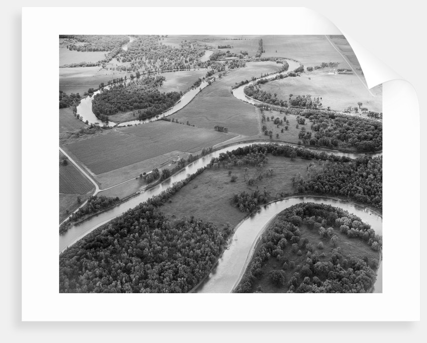 Meandering Mississippi River by Corbis