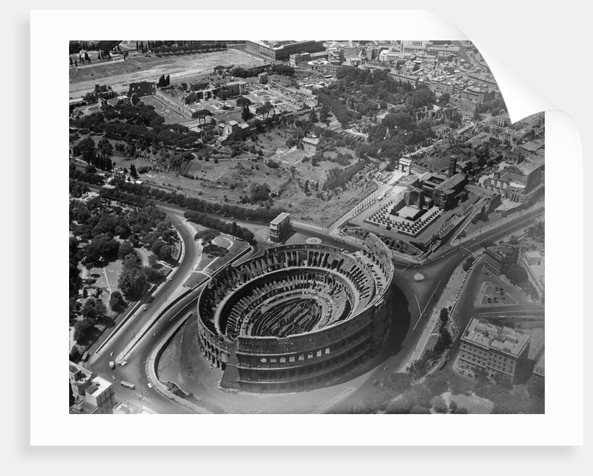 Aerial View of Roman Colosseum and Vicinity, Looking Southwest by Corbis