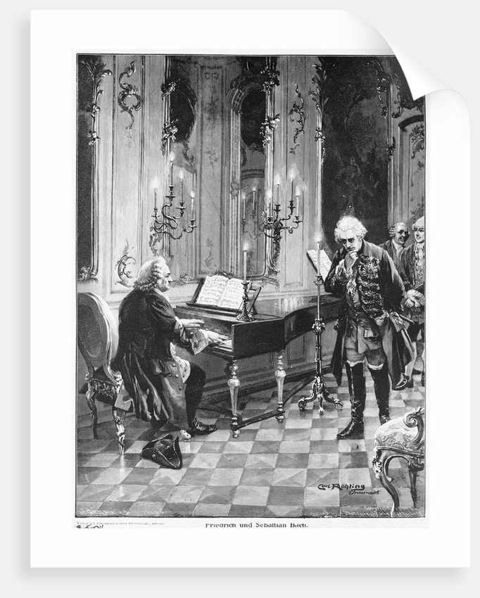 Bach Playing the Piano by Corbis