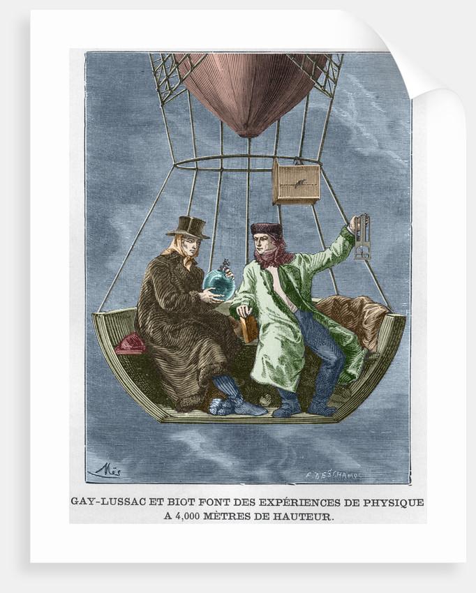 Gay-Lussac et Biot font des experiences de physique by Corbis