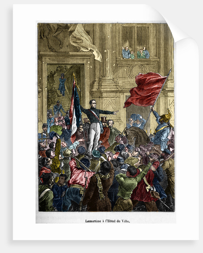 Lamartine a l'Hotel de Ville. Illustration by Corbis