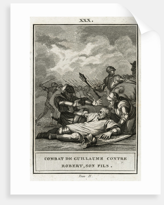 Fighting Scene with King William I and His Son Robert's Men by Corbis