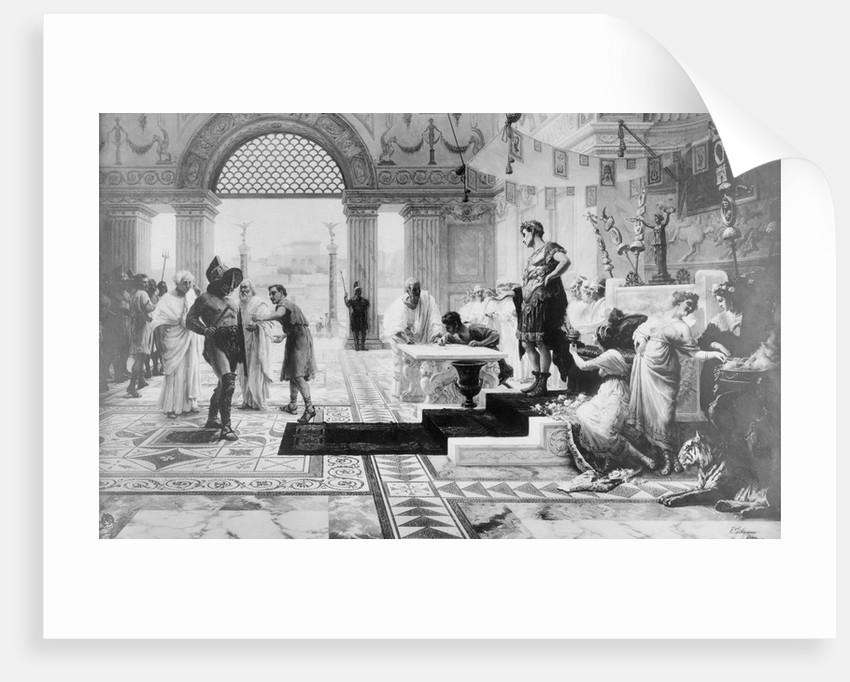 Caligula Choosing Gladiator in His Court by Corbis