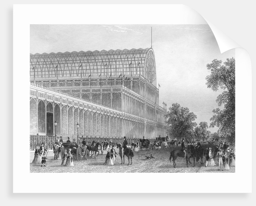Engraving of the South Transept of the Crystal Palace by Corbis