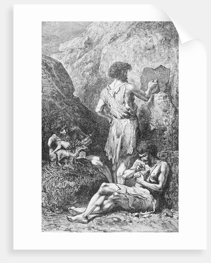 Prehistoric Men Depicting Deer by Corbis