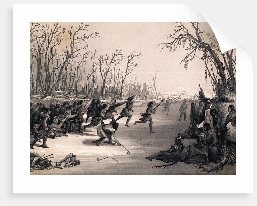 Dakota Sioux Indians Playing Lacrosse
