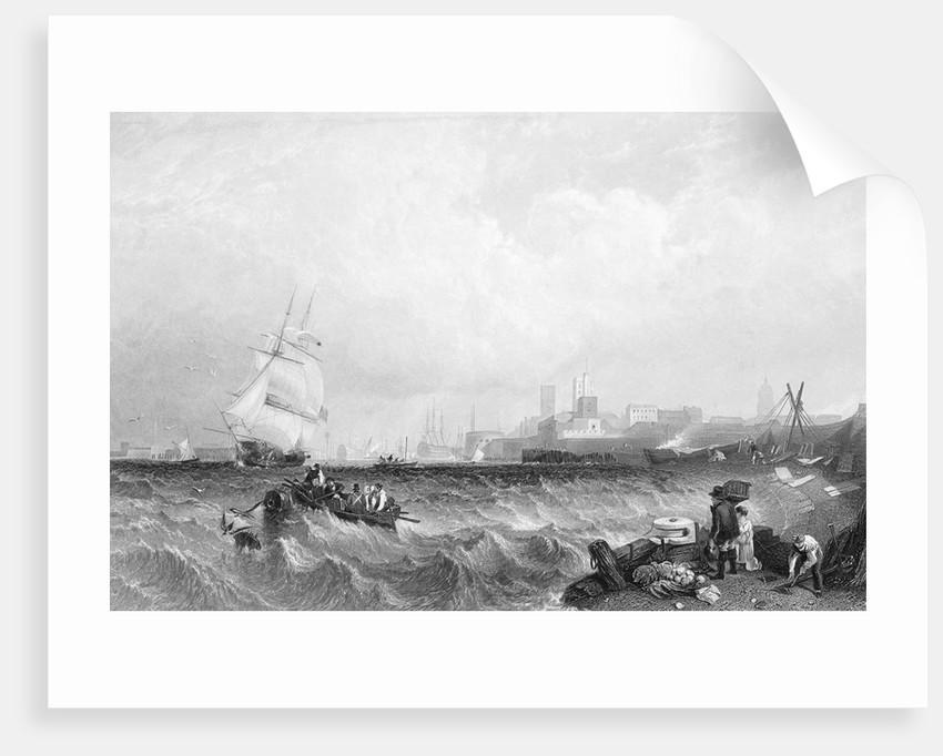 Choppy Seas in Portsmouth Harbor by Corbis