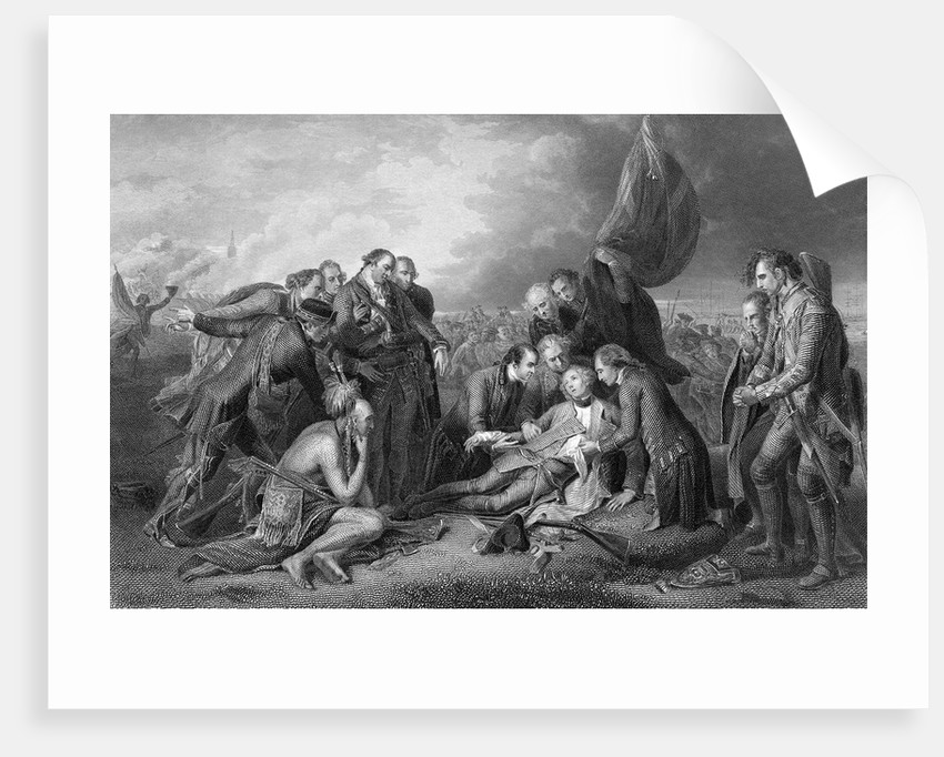 General James Wolfe Dying with Soldiers Surrounding Him by Corbis