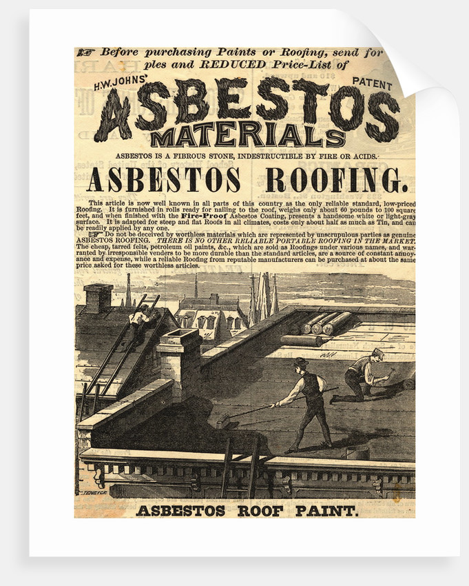 Advertisement for Asbestos Roof Paint by Corbis