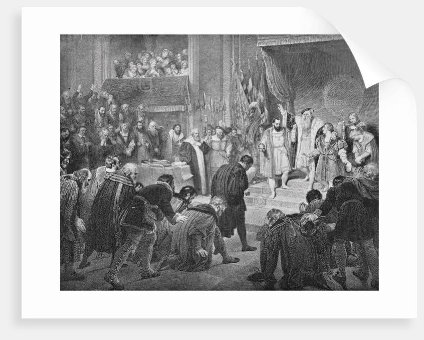 Abdication of Sweden's Gustavas I Vasa by Corbis