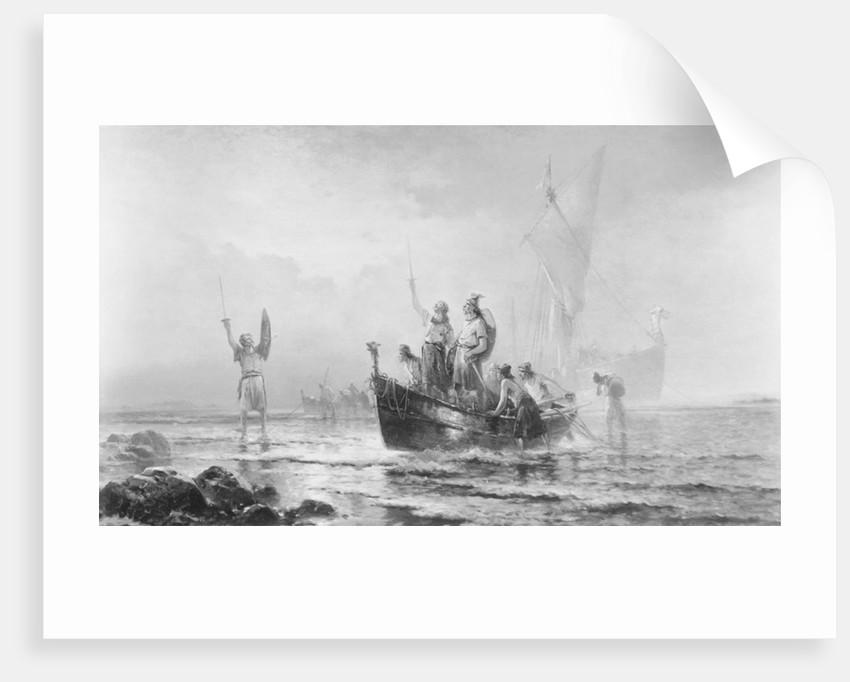 Illustration Depicting Landing of Leif Eriksson by Corbis