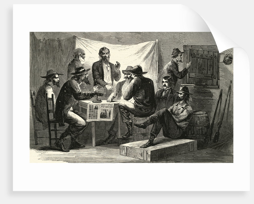 Engraving of Secret Meeting During Civil War by Corbis