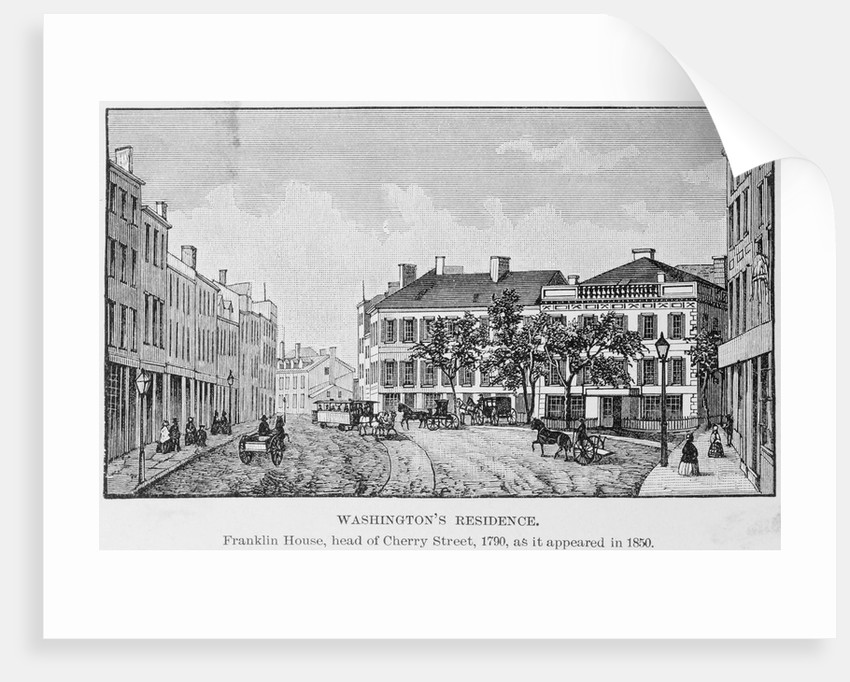Illustration of Residential Area for President George Washington by Corbis