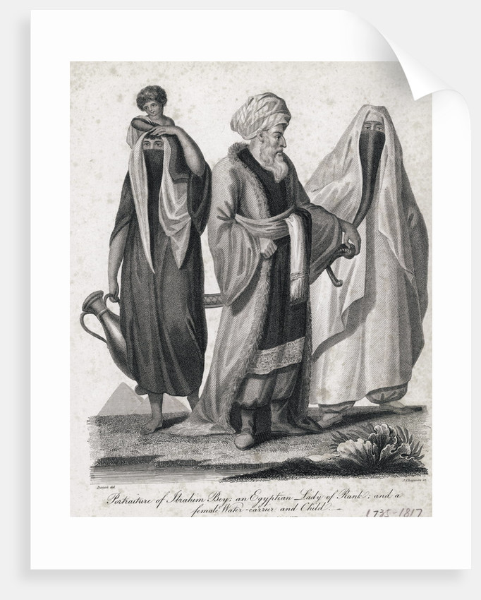 Engraving of Egytian Group by Corbis